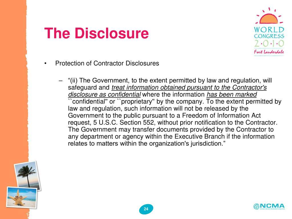 The Disclosure