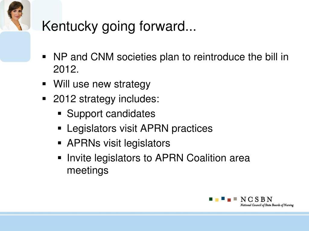 Kentucky going forward...
