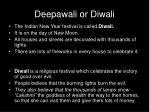 deepawali or diwali