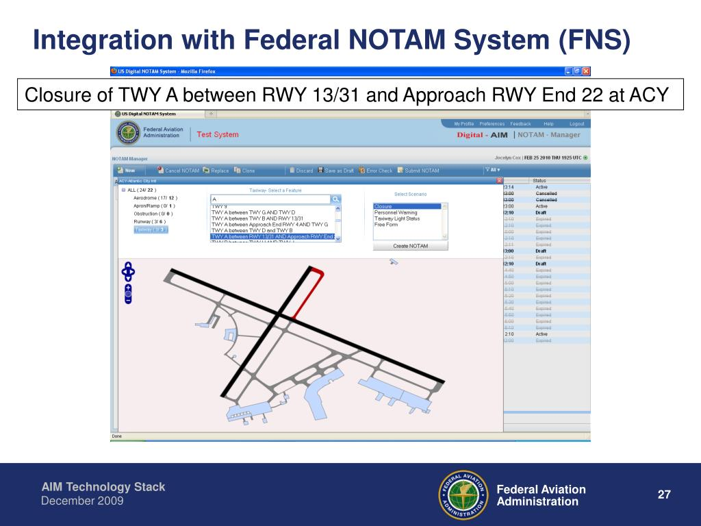 Integration with Federal NOTAM System (FNS)