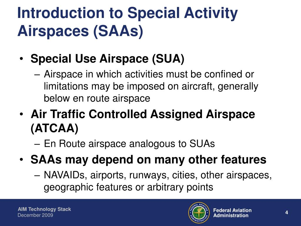 Introduction to Special Activity Airspaces (SAAs)