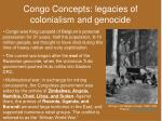 congo concepts legacies of colonialism and genocide