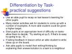 differentiation by task practical suggestions