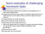 some examples of challenging homework tasks