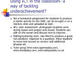 using ict in the classroom a way of tackling underachievement