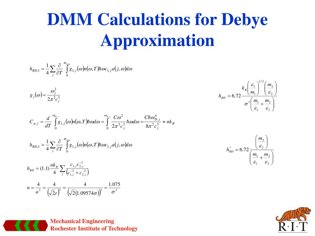 DMM Calculations for Debye Approximation