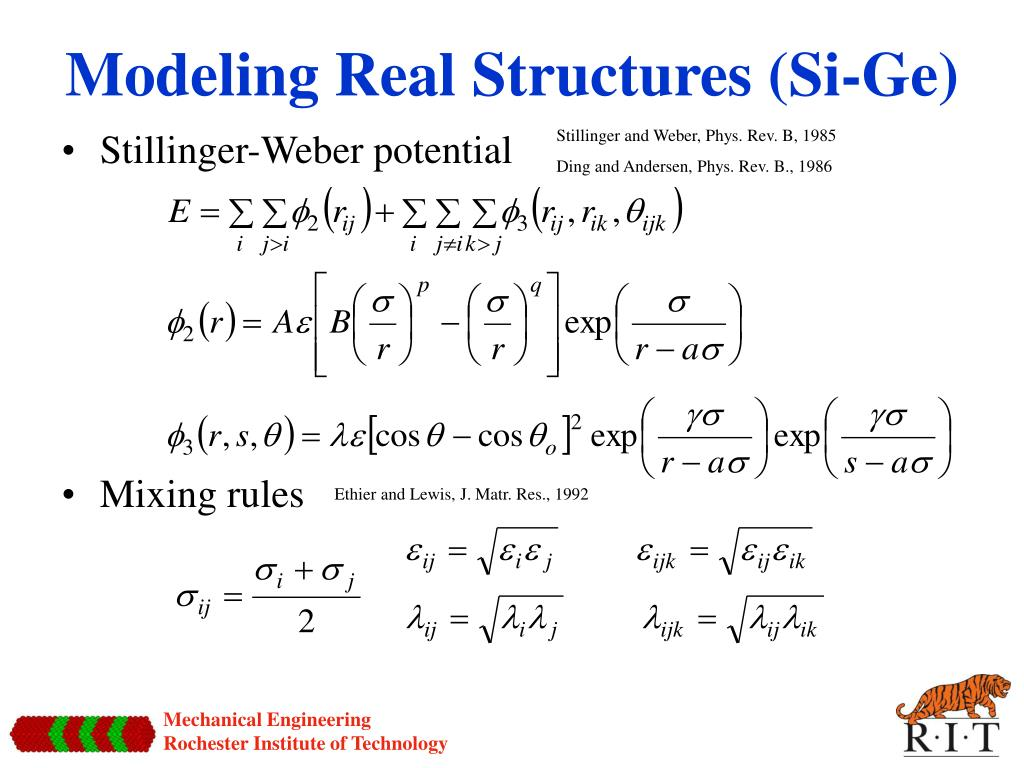 Modeling Real Structures (Si-Ge)