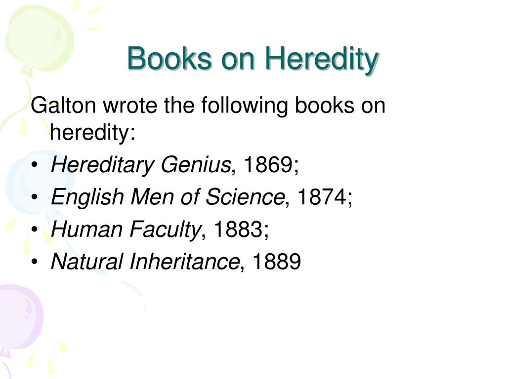Books on Heredity