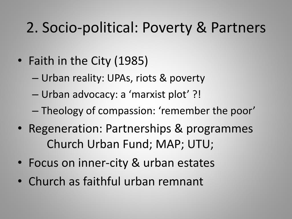 2. Socio-political: Poverty & Partners