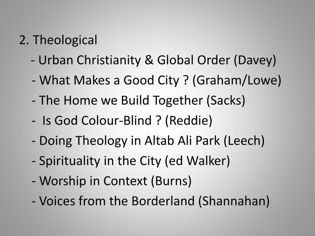 2. Theological