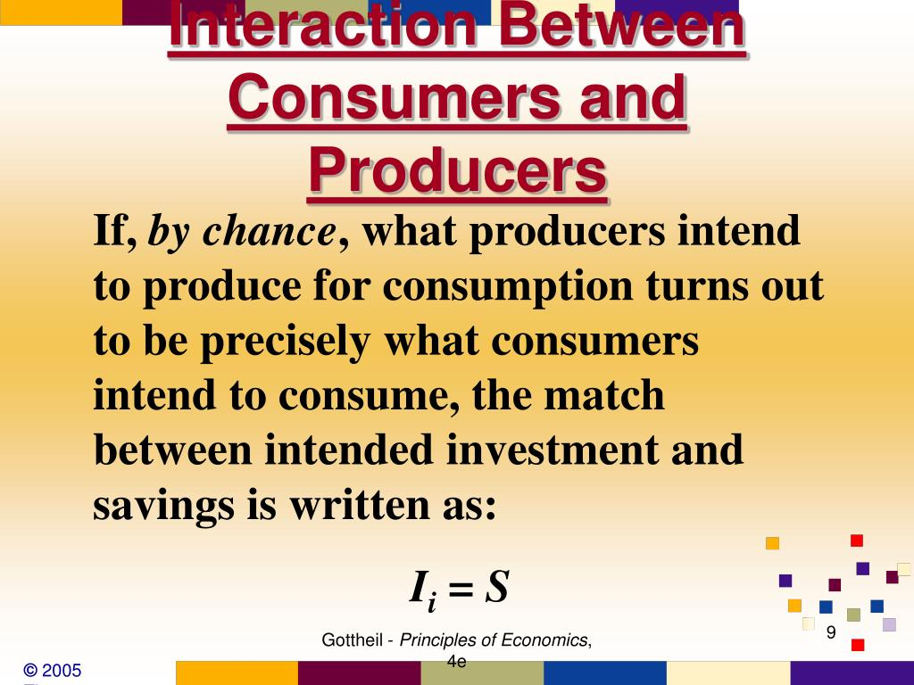 Interaction Between Consumers and Producers
