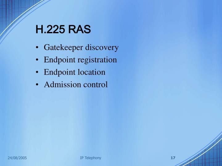 H.225 RAS