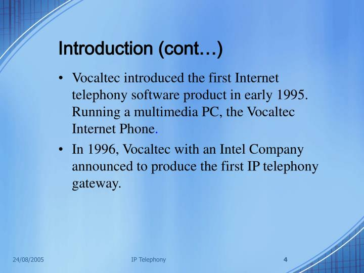 Introduction (cont…)