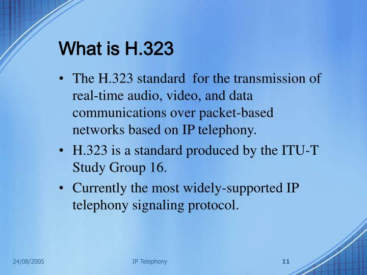 What is H.323