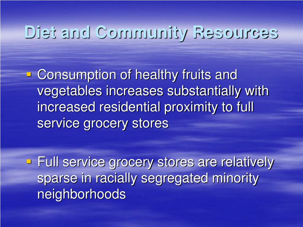 Diet and Community Resources