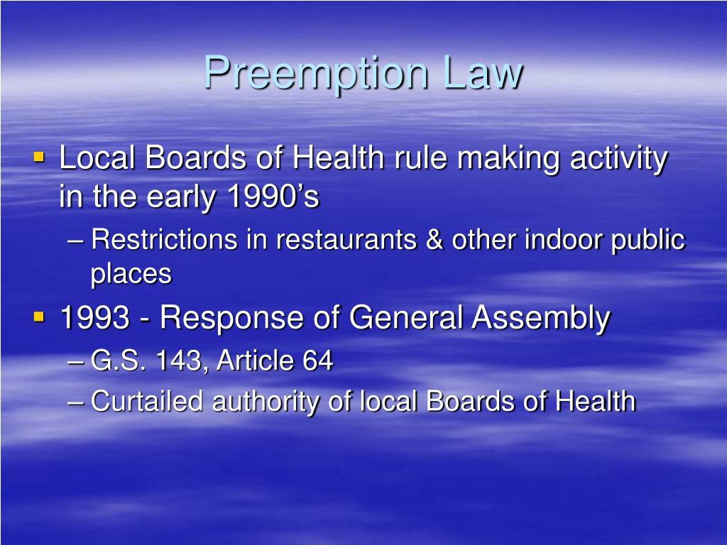 Preemption Law