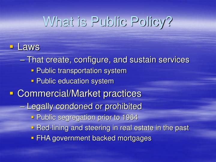 What is public policy3
