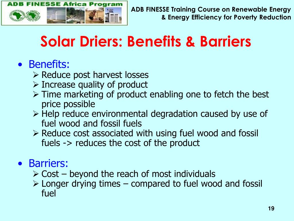 Solar Driers: Benefits & Barriers