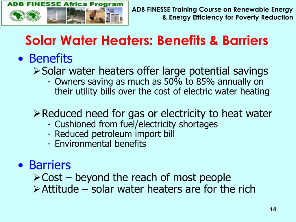 Solar Water Heaters: Benefits & Barriers