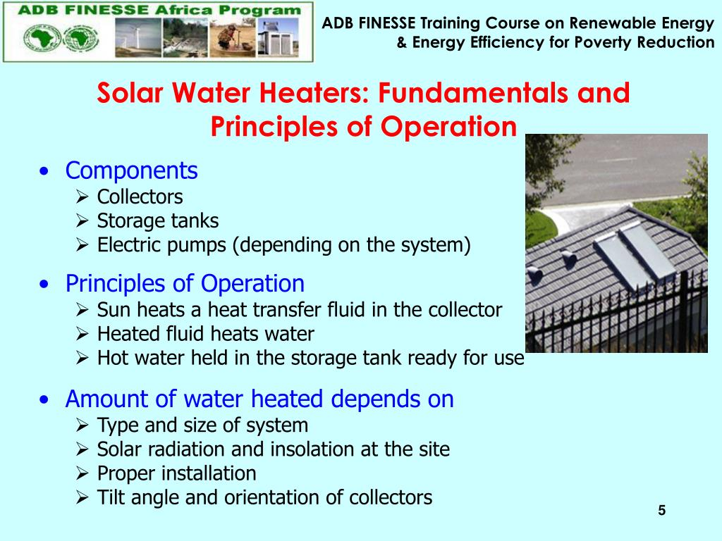 Solar Water Heaters: Fundamentals and Principles of Operation