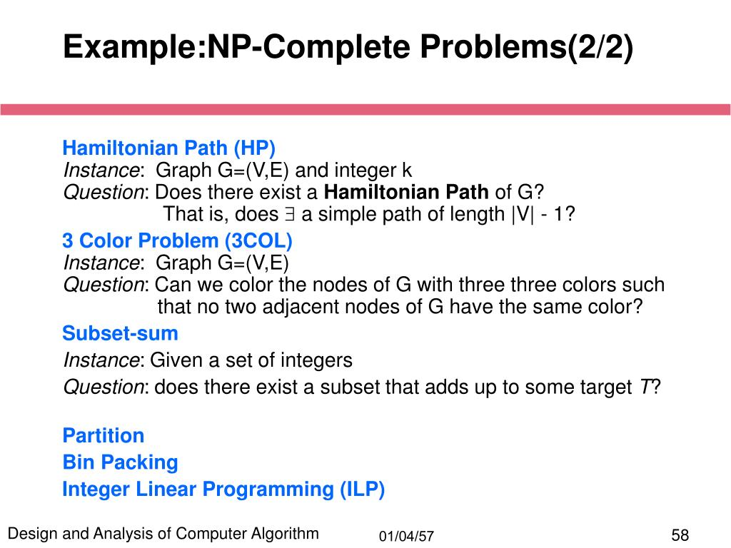 Example:NP-Complete Problems(2/2)