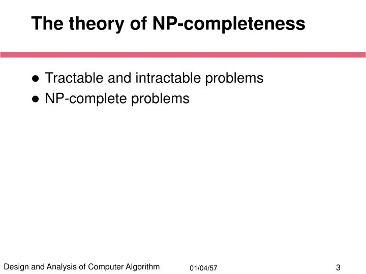 The theory of np completeness