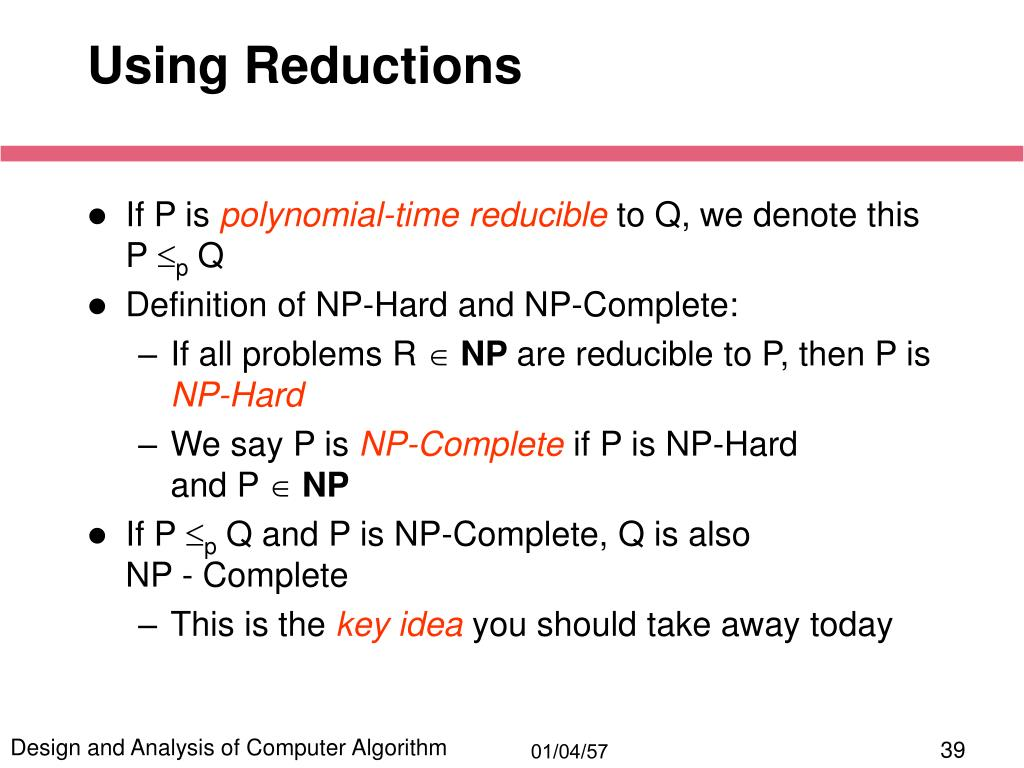Using Reductions