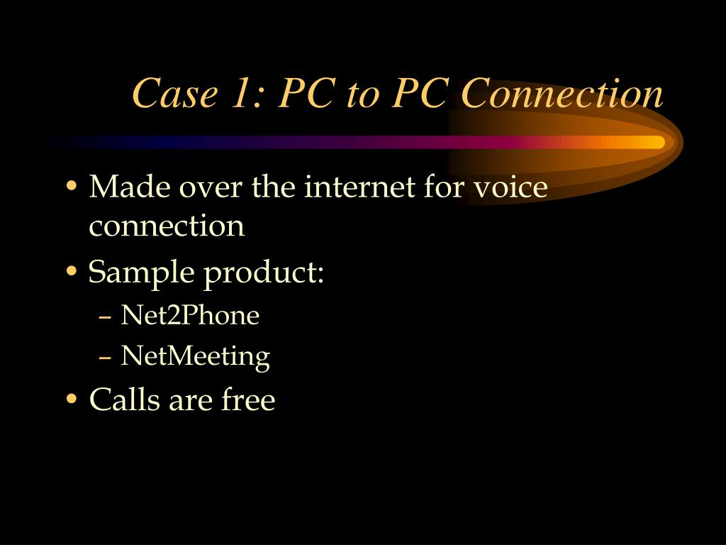 Case 1: PC to PC Connection