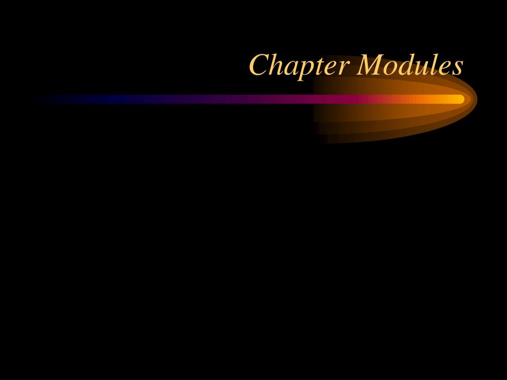 Chapter Modules