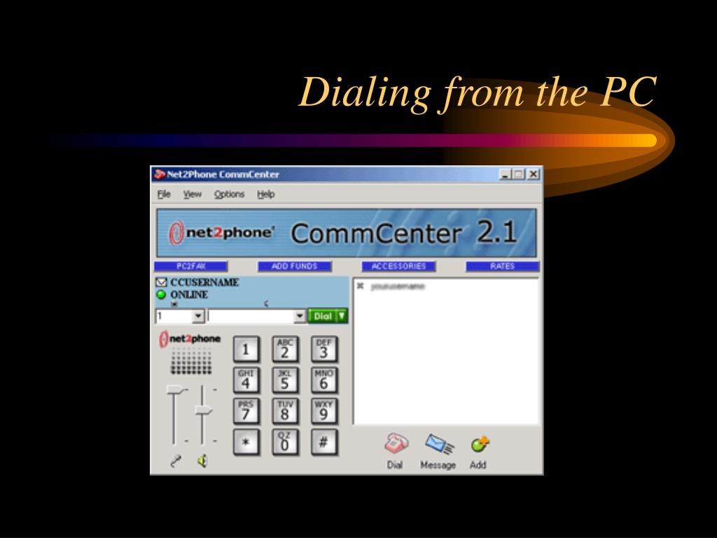 Dialing from the PC