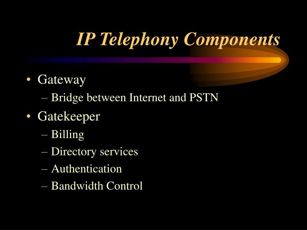 IP Telephony Components