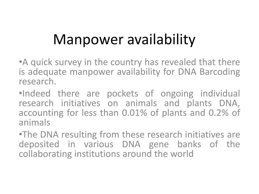 Manpower availability