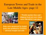 european towns and trade in the late middle ages page 12