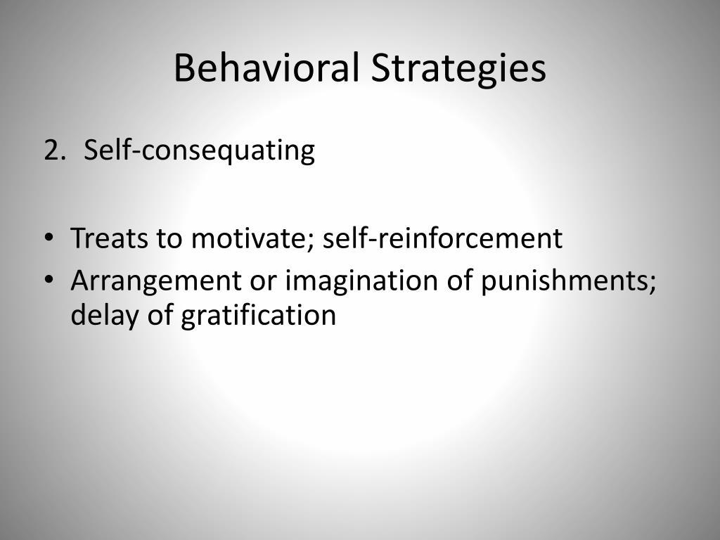 Behavioral Strategies