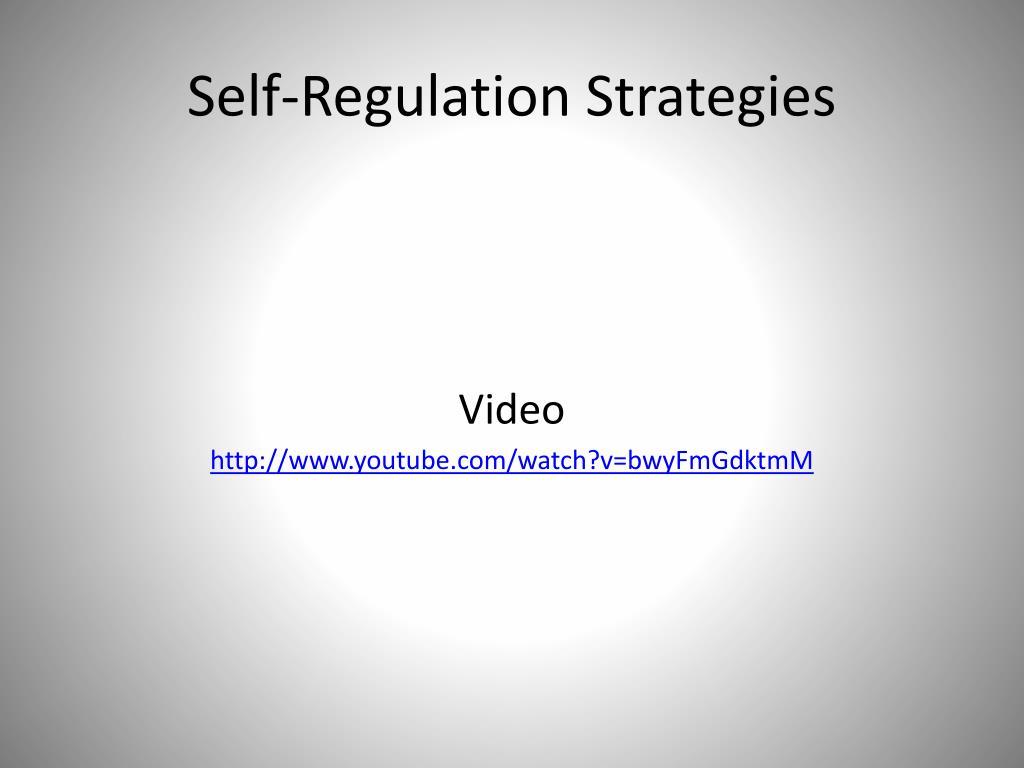 Self-Regulation Strategies