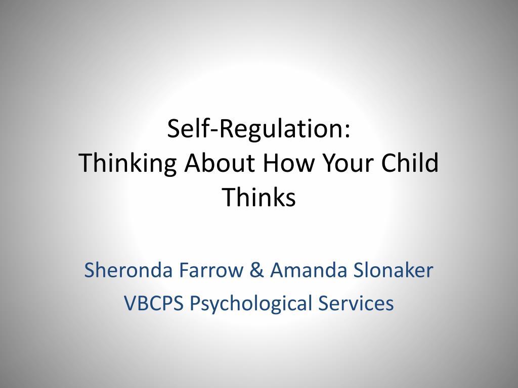 Self-Regulation: