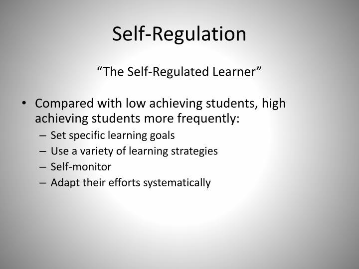 Self regulation3