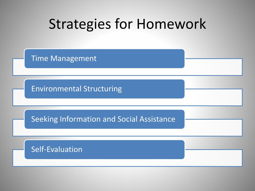 Strategies for Homework