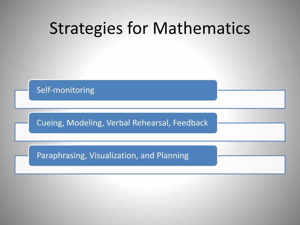 Strategies for Mathematics