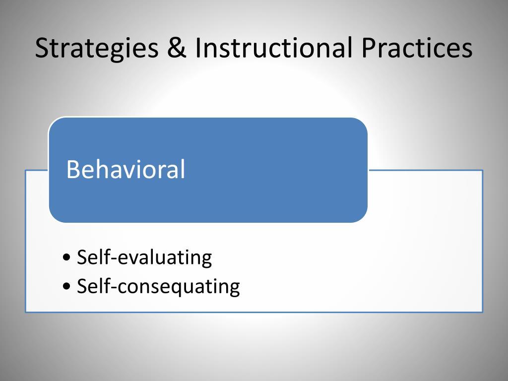 Strategies & Instructional Practices