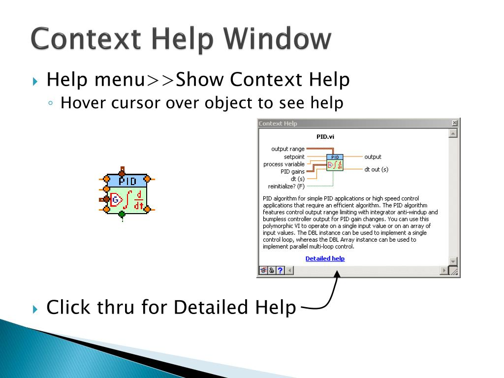 Context Help Window