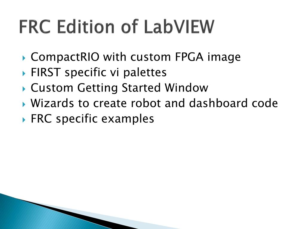FRC Edition of LabVIEW