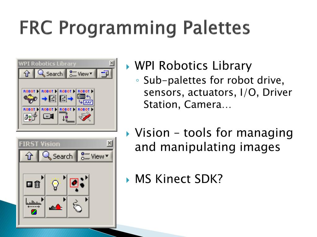 FRC Programming Palettes