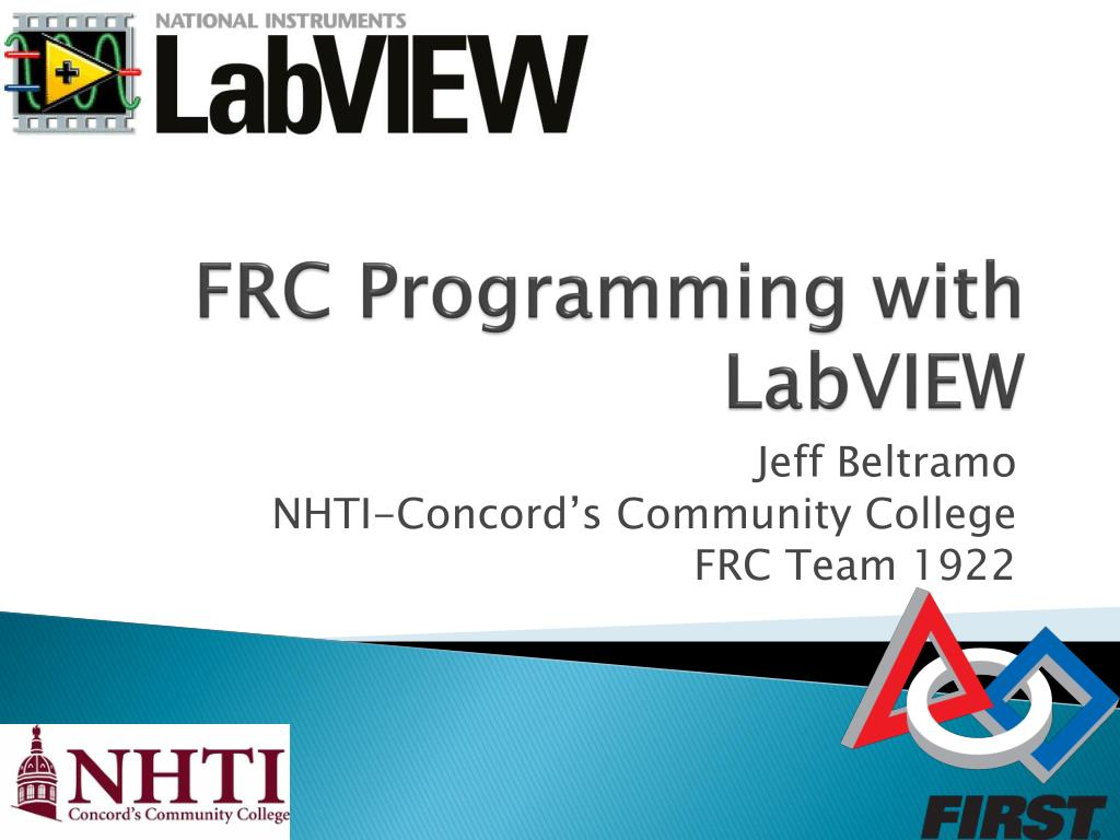 PPT - FRC Programming with LabVIEW PowerPoint Presentation - ID:544888