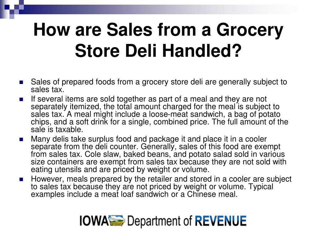How are Sales from a Grocery Store Deli Handled?