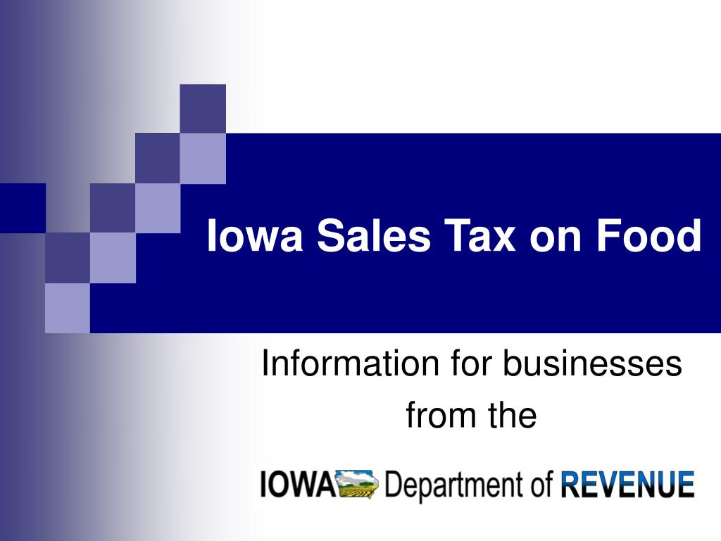 Iowa Sales Tax on Food