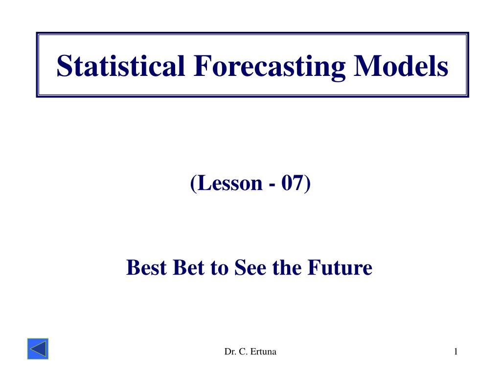 statistical forecasting models l.