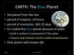 earth the blue planet