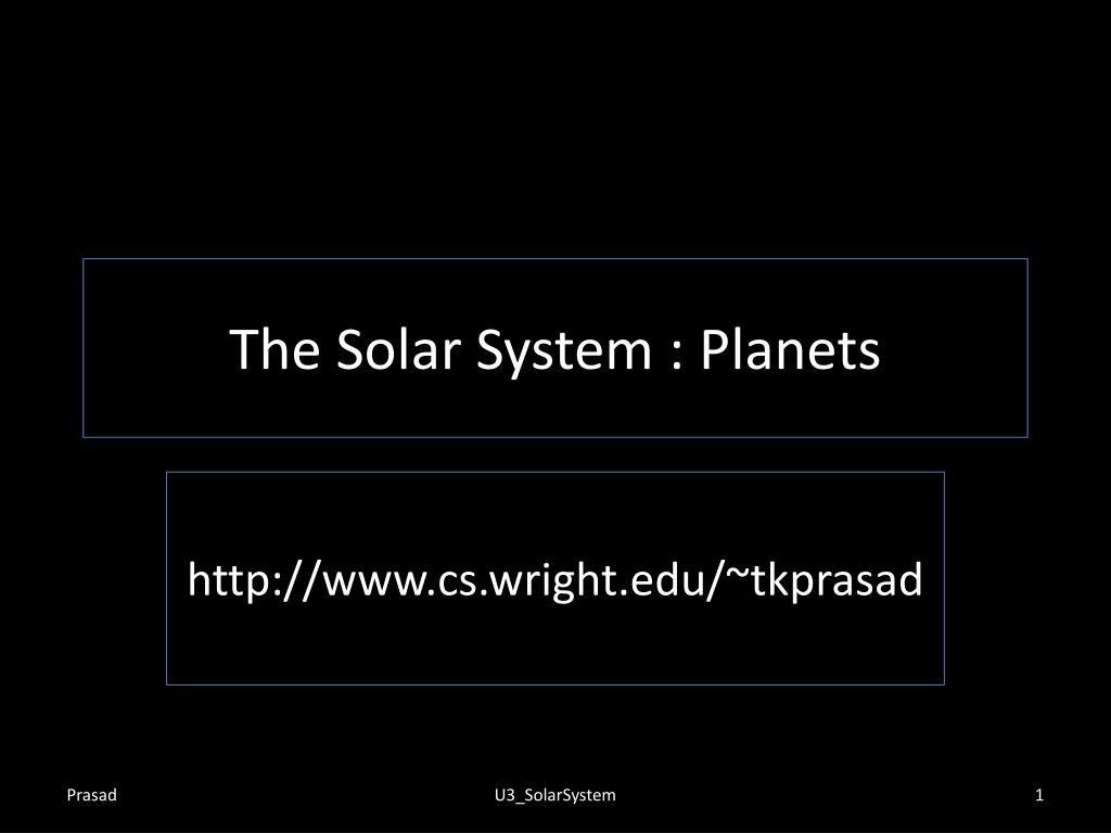 the solar system planets l.