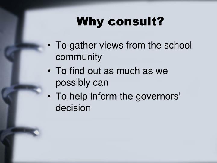 Why consult